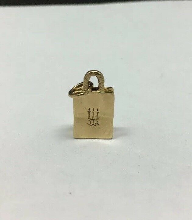 9aa7bf183 James Avery 14K Yellow Shopping Bag Retired Rare Charm gold nymabm6119-Fine  Charms & Charm Bracelets