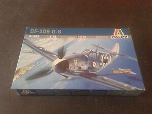 Avion-militaire-BF-109-G-6-ITALERI-echelle-1-72-Ref-063