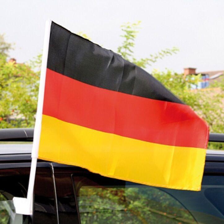 48x Autofahne Deutschland Fahne Flagge Deutschlandfahne Auto 45 x 30 cm Fanfahne | Nicht so teuer  | Lebhaft und liebenswert