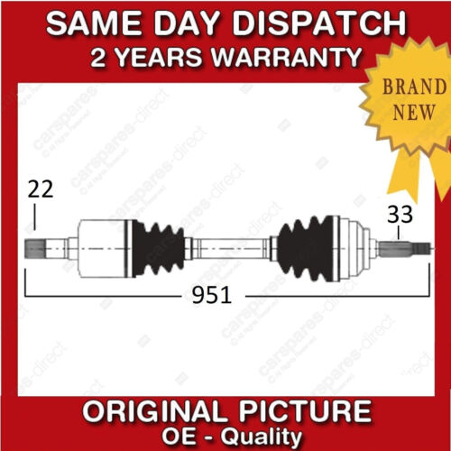 VAUXHALL ASTRAVAN MK4 1.6 RIGHT//OFF SIDE DRIVESHAFT /& CV JOINT 2005/>ONWARDS