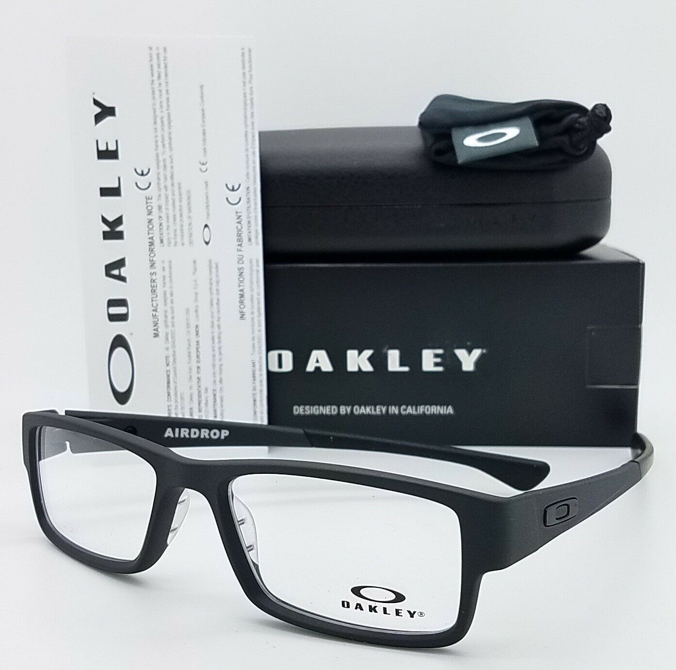 NEW Oakley Airdrop RX Optical Frame Satin Black OX8046 0155 55mm AUTHENTIC 8046