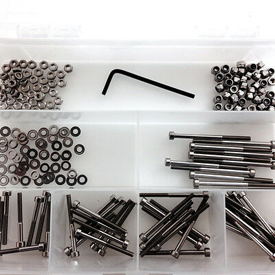 401 PCE A2 STAINLESS M4 SOCKET CAP KIT INCLUDING NYLOC, FULL NUTS & WASHERS SS03