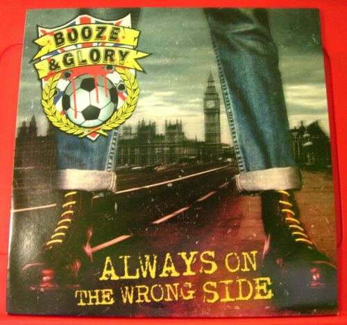 Booze And Glory Always On The Wrong Side LP RED VINYL UK ORIG 2010 NEW Ltd 300