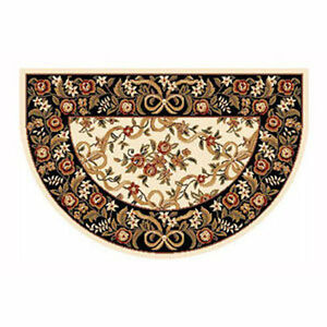 Details About 46 X31 Fl Half Round Fire Resistant Fireplace Hearth Rug Carpet
