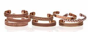 Set-of-10-Tibetan-Copper-Bracelets-Magnetic-India-Pattern-Women-039-s-Men-039-s