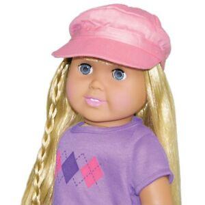 Doll-Clothes-18-034-Hat-Newsboy-Cap-Pink-Fits-American-Girl-Dolls