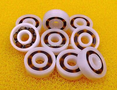 4 PCS 6800 10x19x5 mm Plastic Nylon POM Ball Bearing Bearings 10*19*5