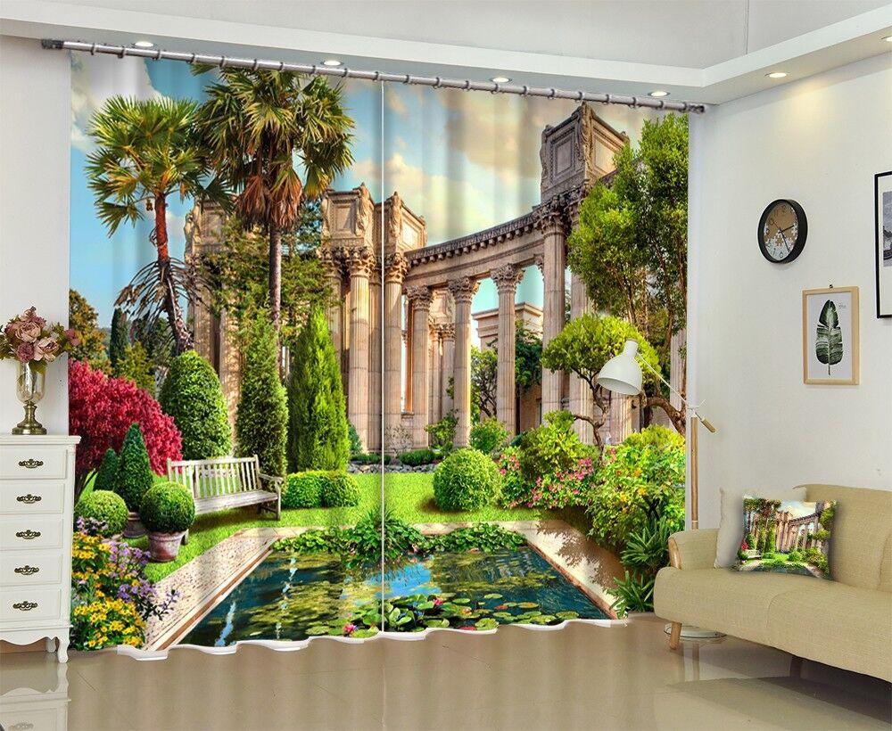 3d pilar jardines bloqueo 833 cortina de fotografía presión cortinas cortina de tela de ventana