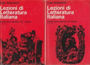 Settembrini-Lezioni-di-letteratura-italiana-2-volumi-1964-Sansoni