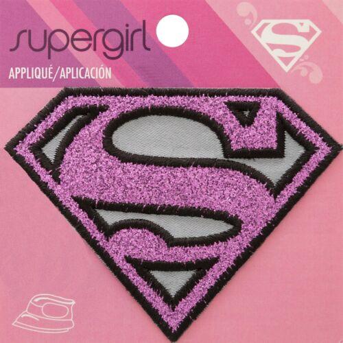 Supergirl Logo Superman Rosa Parche de hierro en apliques Motif Dc Comics-Artesanía
