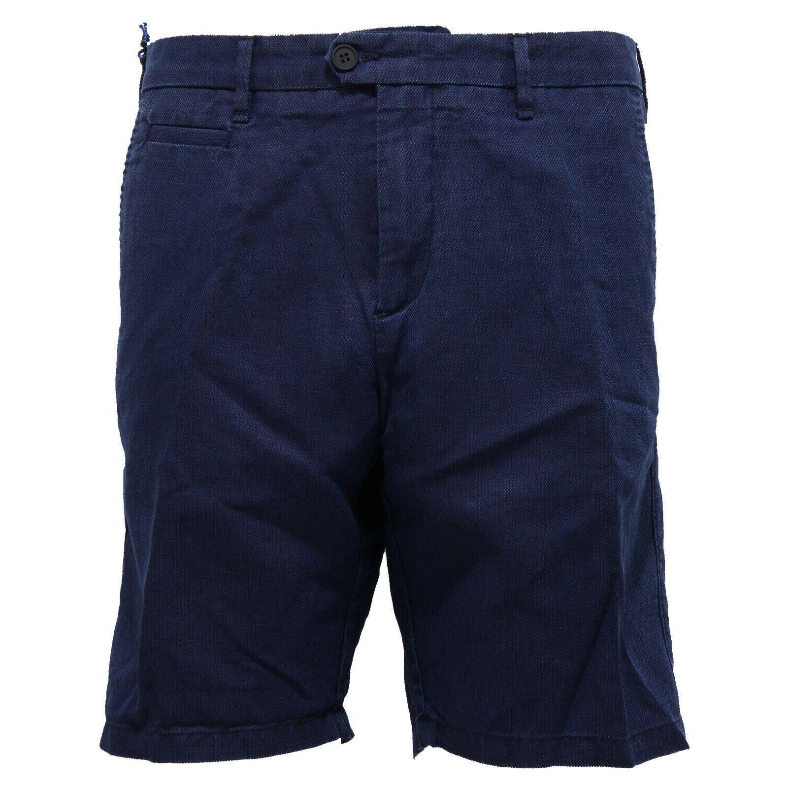 4474Z  BERMUDA hombres la perfección prenda teñido de lino azul corto hombre  el mas de moda