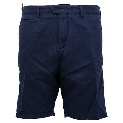 4474z Bermuda Uomo Perfection Garment Dyed Linen Blue Short Man Fabbriche E Miniere