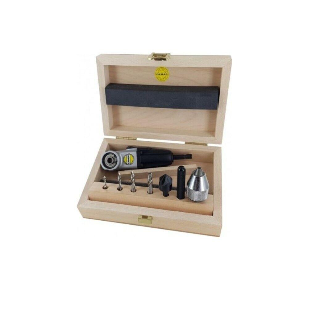 Famag Winkelschraubvorrichtung 90fix Set 7tlg. Kompakt Holz Bit Schaft 1598.757