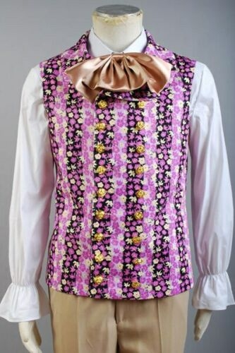 Willy Wonka And The Charlie Chocolate Factory Costume Vest Only Purple Jacket