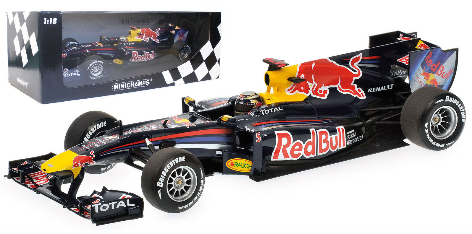 Minichamps Red Bull RB6 2010 - S Vettel 2010 World Champion 1 18 Scale