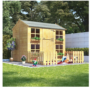 Image Is Loading Childrens Outdoor Playhouse Kids Wooden Wendy House Cottage