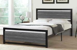 **BRAND NEW** Wood Look Metal Frame Bed Hamilton Ontario Preview