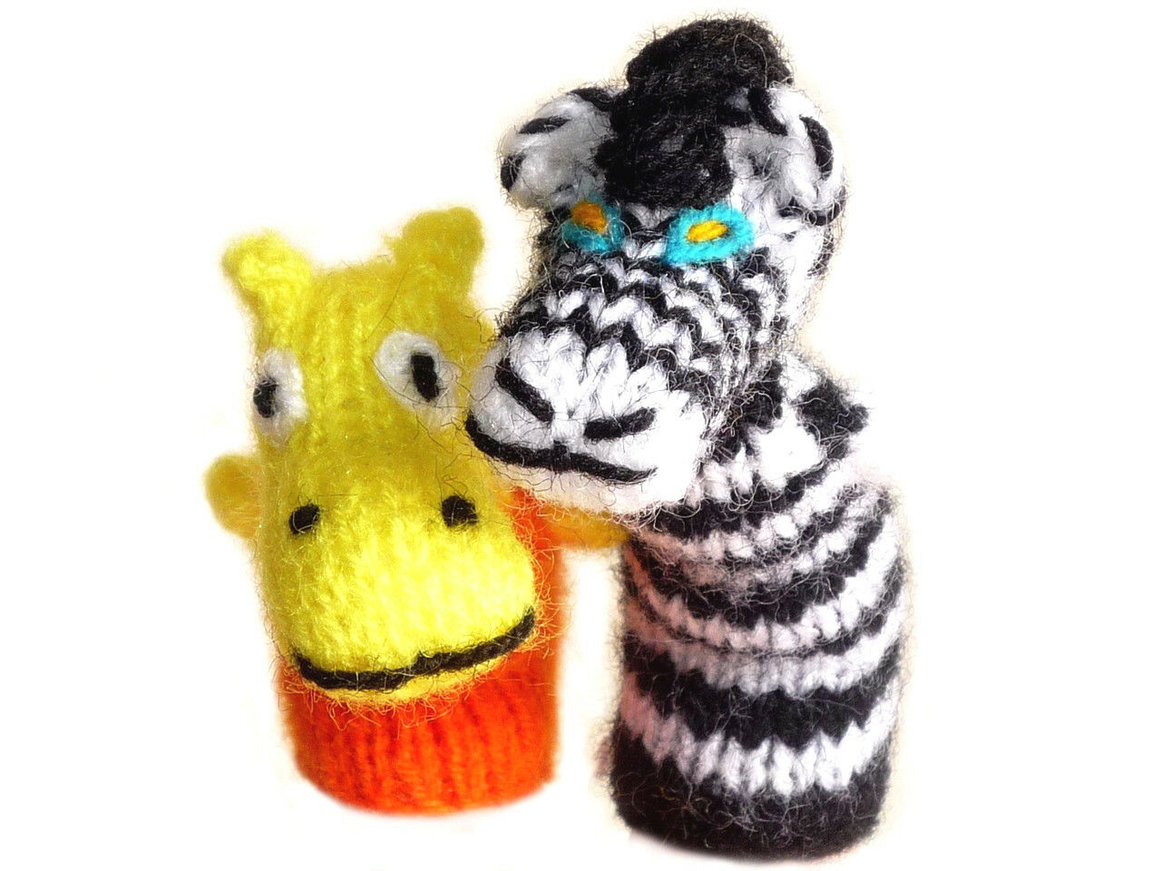 100 Fingers Puppets - Handwoven - Hand Knit - Peruvain Toy