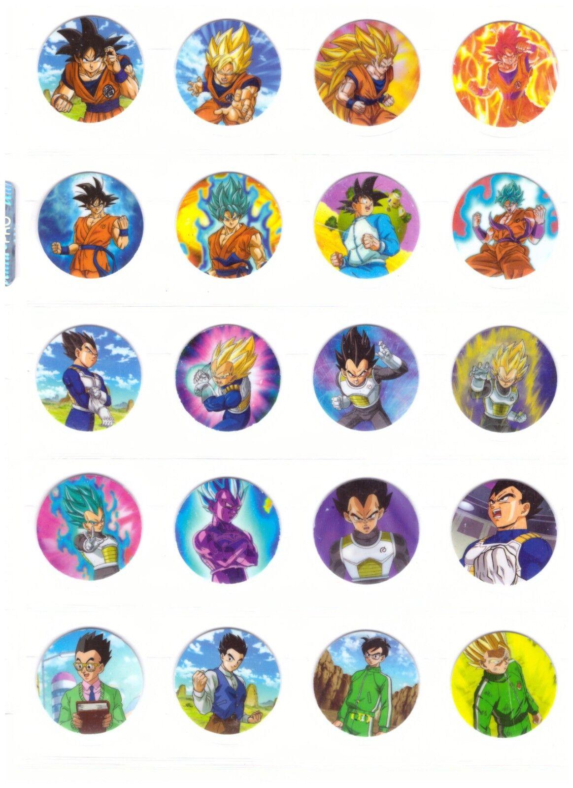 TAZOS DRAGON BALL SUPER Coleccion completa Cromos - Pogs Cartas Figuras Toys Set