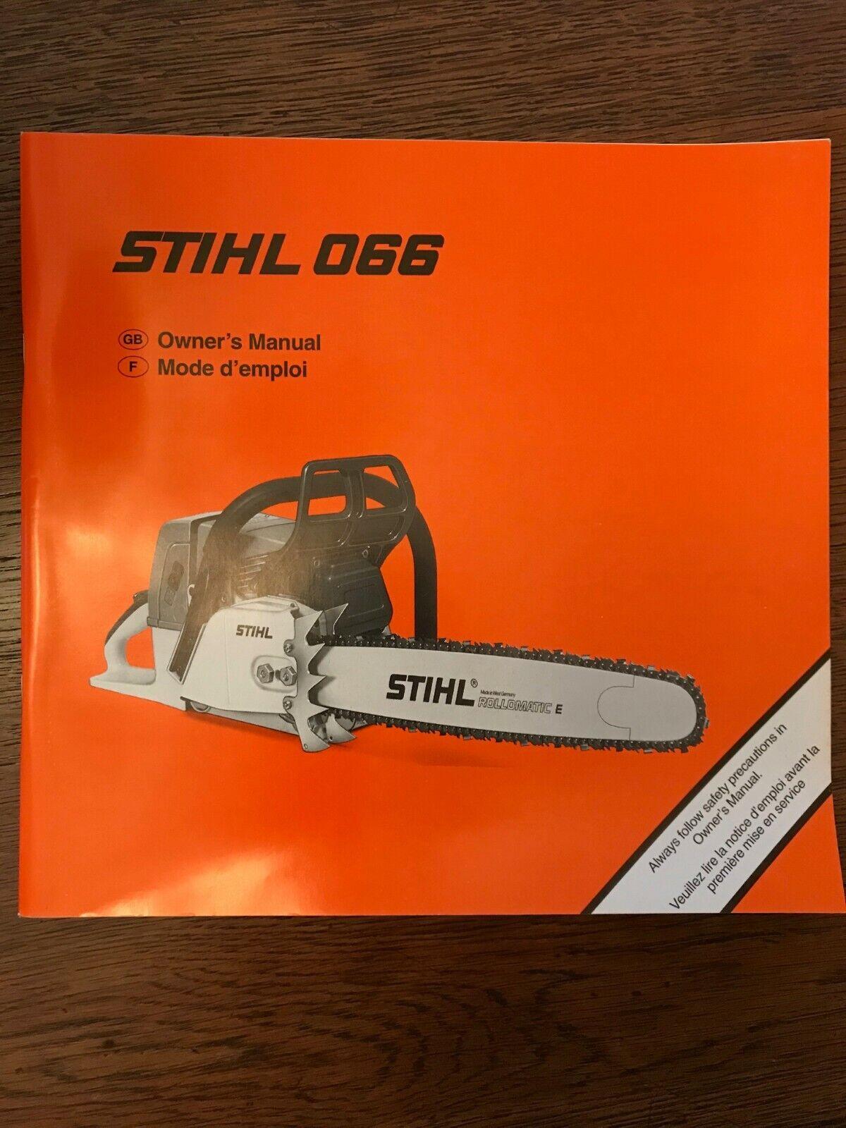 Stihl chain saw 064, 066 service manual p/n 045 130 0123 (285.
