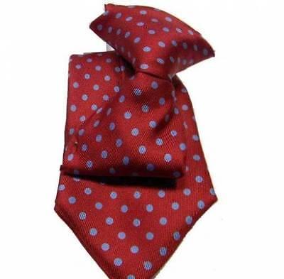 Capace Cravatta Bimbo Rosso Bordeaux Bambino Pois Azzurr Seta Rossa Da 18 Mesi 2 3 Anni Bello A Colori