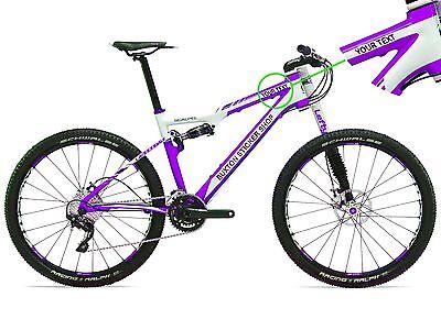 6 x PERSONALISED UK FLAG BIKE BICYCLE NAME STICKERS CYCLE MOUNTAIN BMX RACING