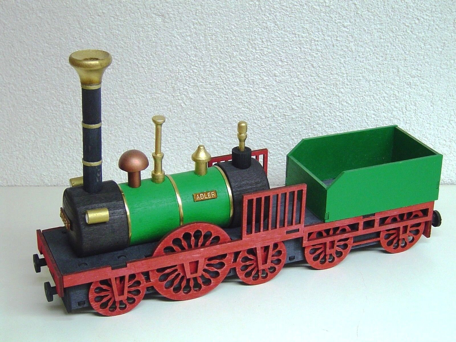 Räucher Lok Adler Dampflok Eisenbahn Eisenbahn Eisenbahn rauchend Original Erzgebirge 27 cm 15064 619322