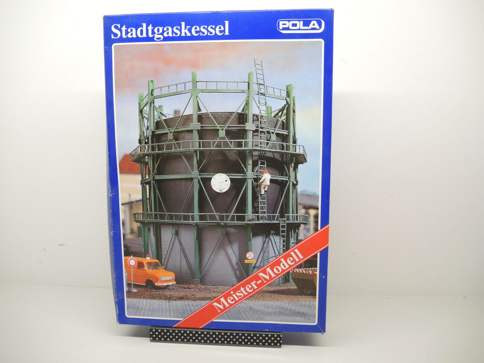 Pola 854  Meister Modell, HO, Stadtgaskessel, unbebaut unbebaut unbebaut  OVP mit Lagerspuren  | Billiger als der Preis  578e12