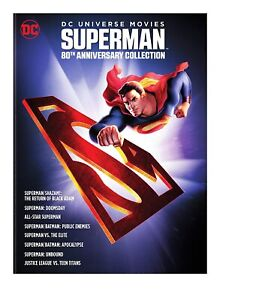 Superman 80th Anniversary Collection DVD NEW