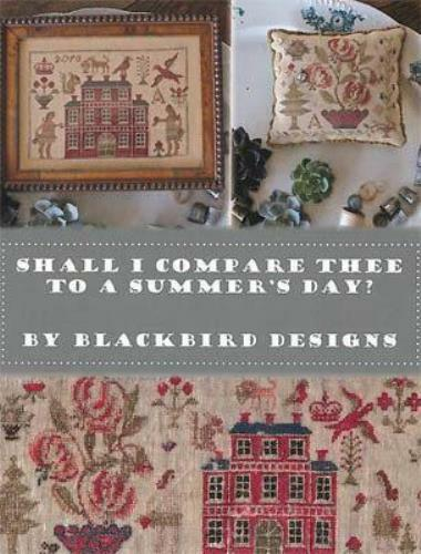 Shall I Compare Thee to a Summer Day by Blackbird cross stitch pattern