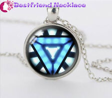 Iron Man Arc Reactor silver moive necklace for women men Jewelry#T31