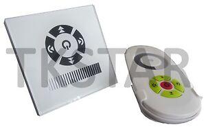 LED-Touch-Funk-LED-Dimmer-Controller-weiss-12V-Unterputzdose-rund-Fernbedienung