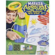 NEW Crayola Marker Airbrush spray art set air brush paint