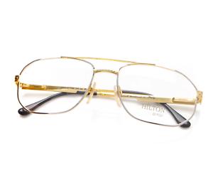 Vintage-Hilton-Manhattan-206-04-Pilot-Eyeglasses-Optical-Frame-Eyewear-Lunettes