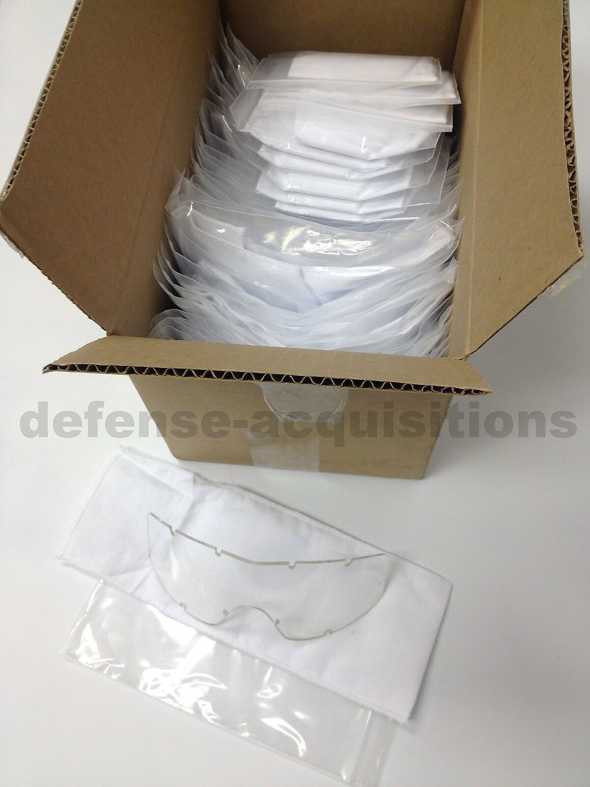 Case of 50 New ESS Profile NVG Goggle, TurboFan, FirePro Clear Replacement Lens