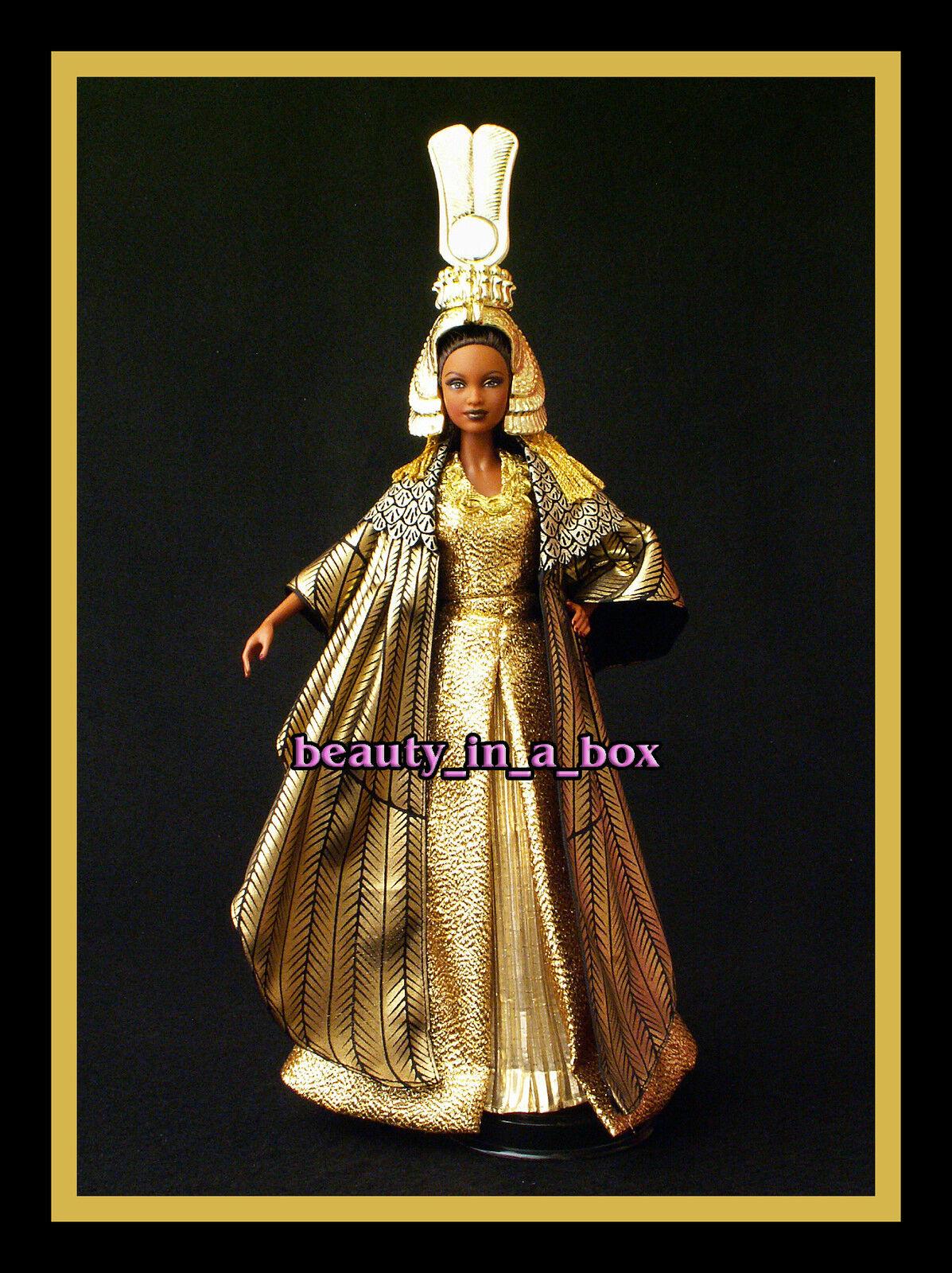 Muñeca Barbie Cleopatra Egipcio uno de una clase de reparación AA afroamericano Egipto Suelto