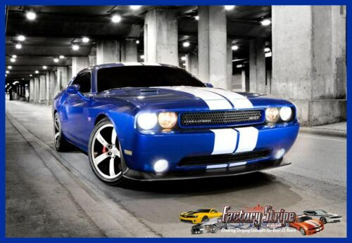 Dodge Challenger Solid Rally Decal Stripe Kit3M Factory Stripe graphic 2008//2014