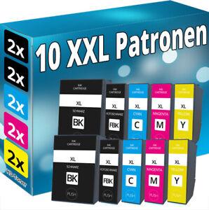 Set 10x TINTE PATRONE XL für Epson Expression Premium XP 6000 6005 6100 6105