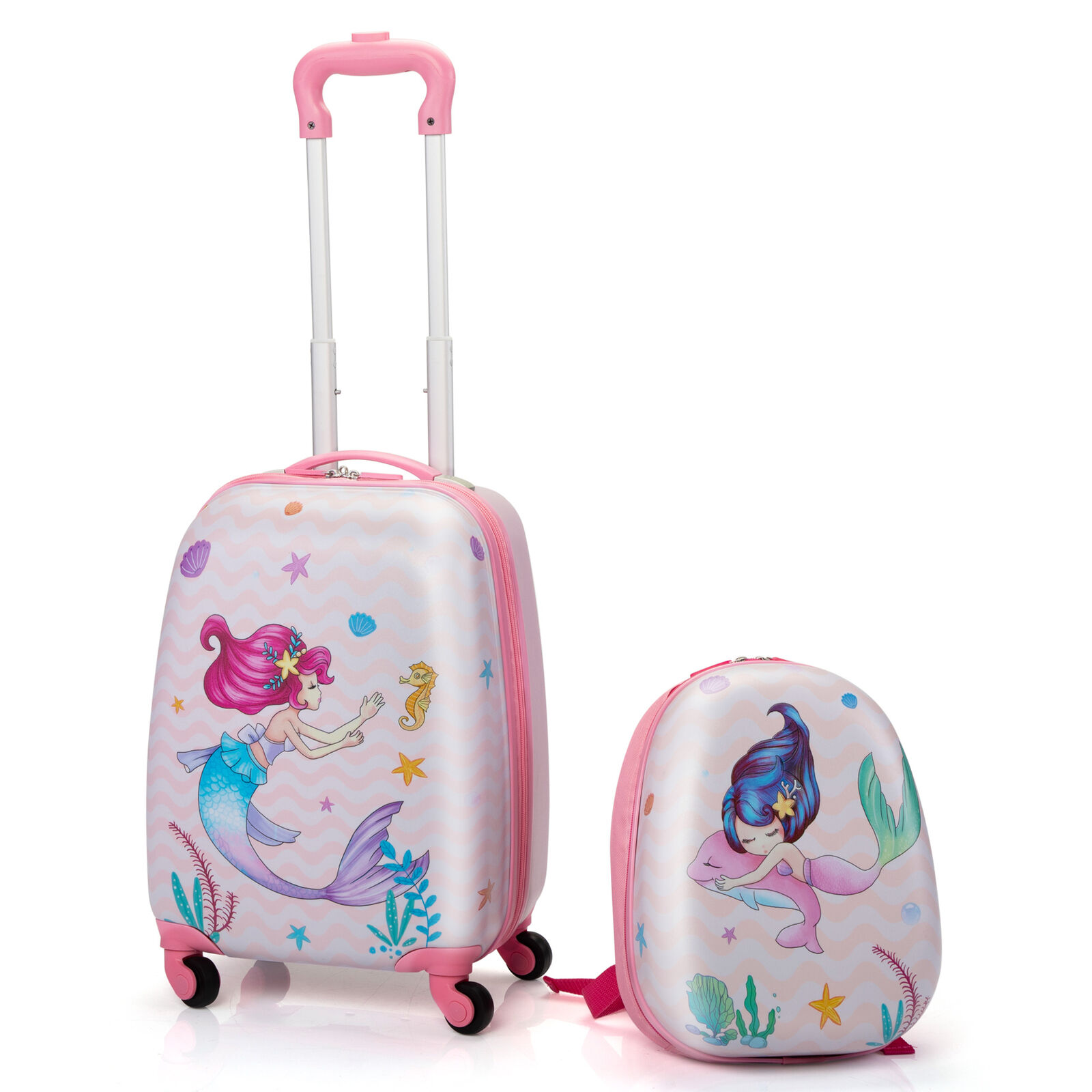 Kids Luggage with Wheels for Girls 12 Toddler Backpack & 16 Travel Suitcase