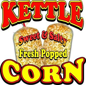 Choose Your Size Caramel Corn DECAL Food Truck Vinyl Sign Concession