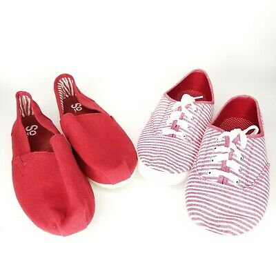 1 Kohls SO Womens Red Striped Lace Up