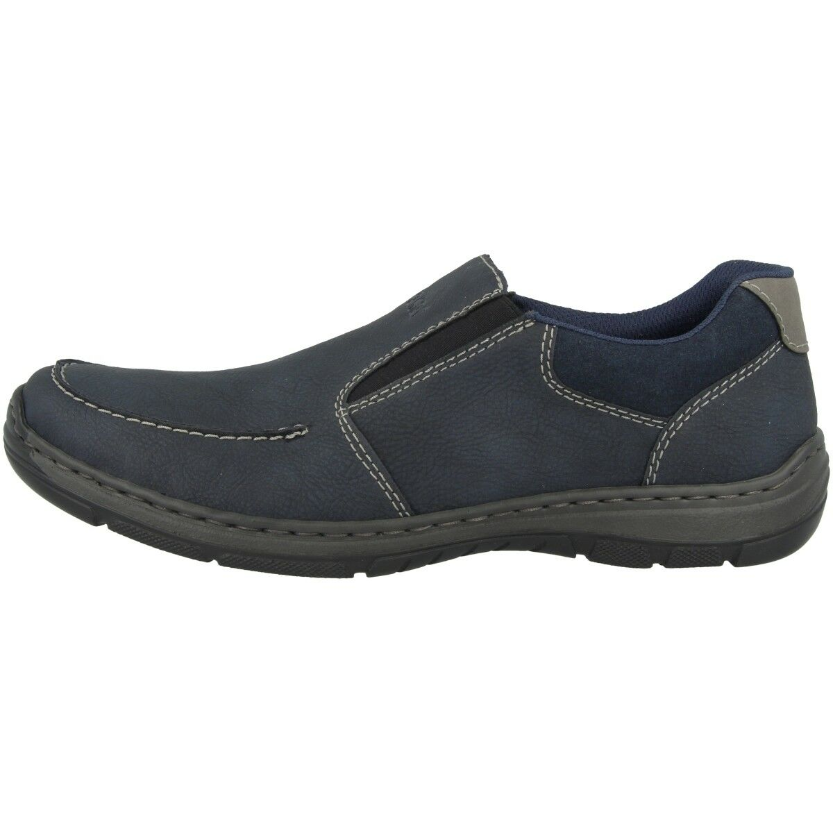 Rieker Derby-Virage-Bastia Zapatos Hombre Bajos 15250-14 Estilo Pantuflas Azul 15250-14 Bajos 31f489