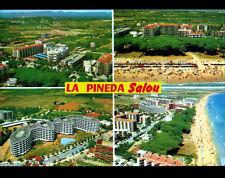 SALOU (ESPAGNE) VILLAS & HOTELS , LA PINEDA en vue aérienne en 1980