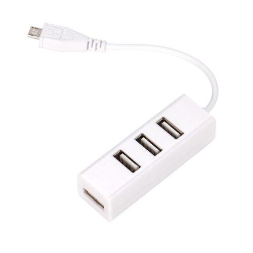 Mini Micro USB To 4 Port USB OTG Hub For Raspberry Zero ODROID White 2018