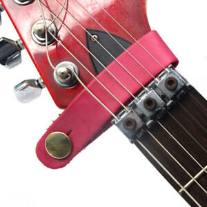Leather-guitar-strap-and-buttons-safe-lock-for-acoustic-electric-classic-CRIT