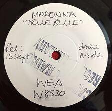 "MADONNA -True Blue- Rare UK 7"" Test Pressing/White Label Promo (Vinyl Record)"