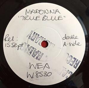 MADONNA-True-Blue-Rare-UK-7-034-Test-Pressing-White-Label-Promo-Vinyl-Record