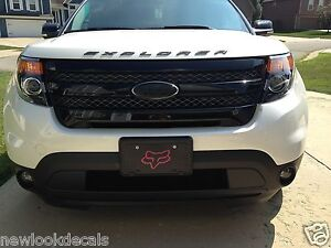 Ford Oval Emblem Blackout Sticker Decal Overlays Fits 11 12 13 14
