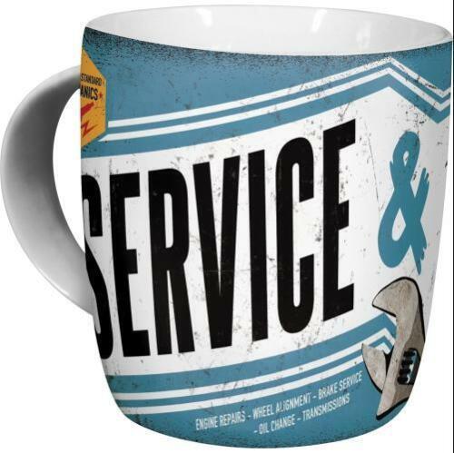 Kaffeetasse Service Repair Werkstatt Becher,Souvenir Tasse,330 ml.