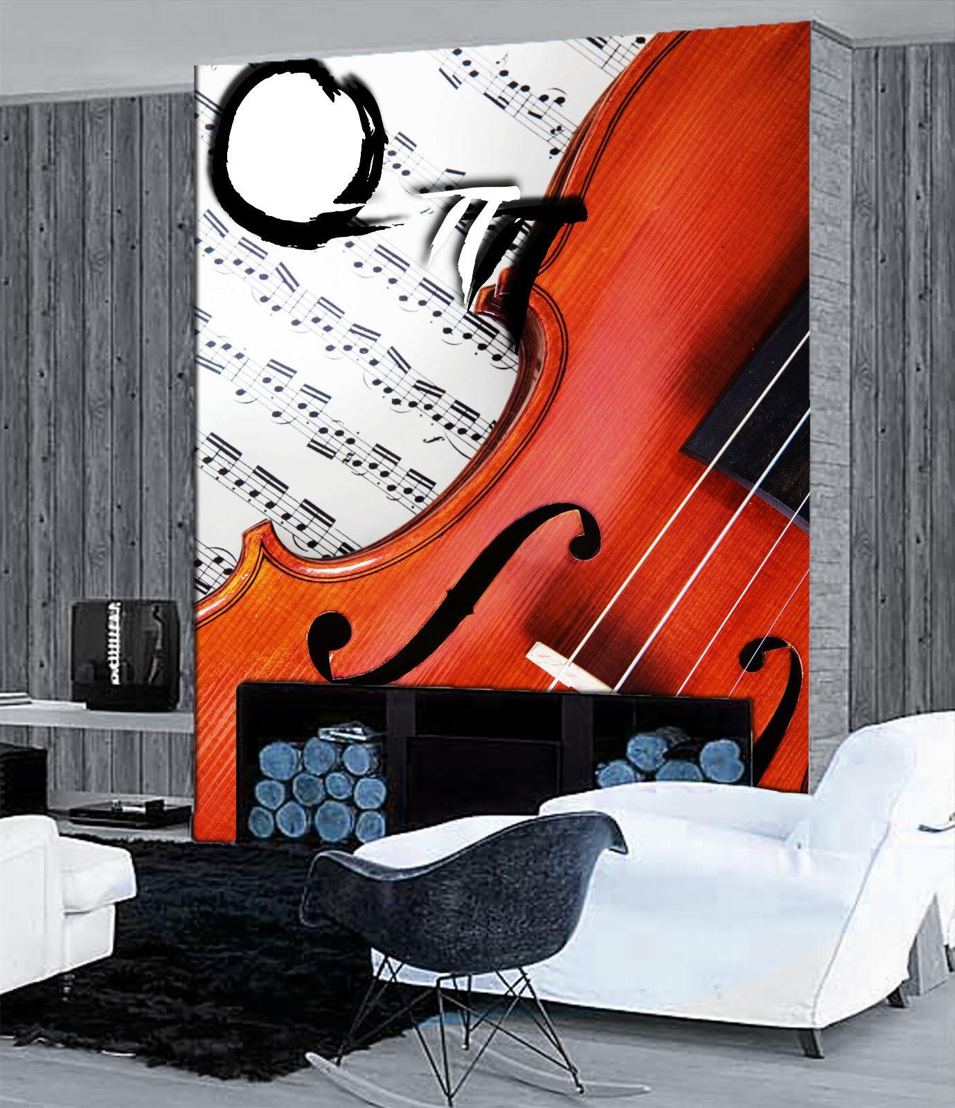 3D Violine Melodie 74 Tapete Wandgemälde Tapete Tapeten Bild Familie DE Summer